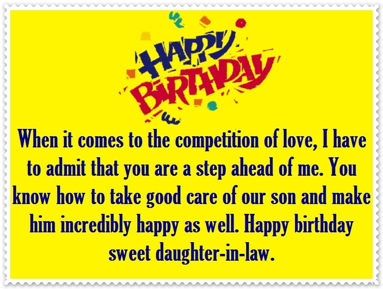 Daughter-in-Law Happy Birthday Quotes And Greetings
