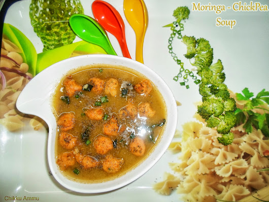 Moringa - Chickpea Vegetable Soup / Healthy Soup / Diet Soup