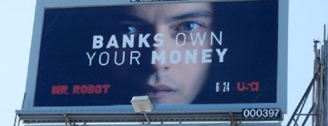 Image result for mr robot bank own your money