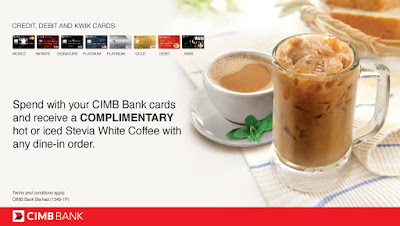 CIMB Cards Free PappaRich Stevia White Coffee Dine-in Promo