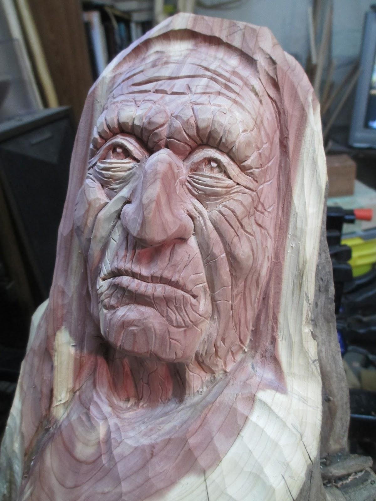 Carvings by george cedar carving update