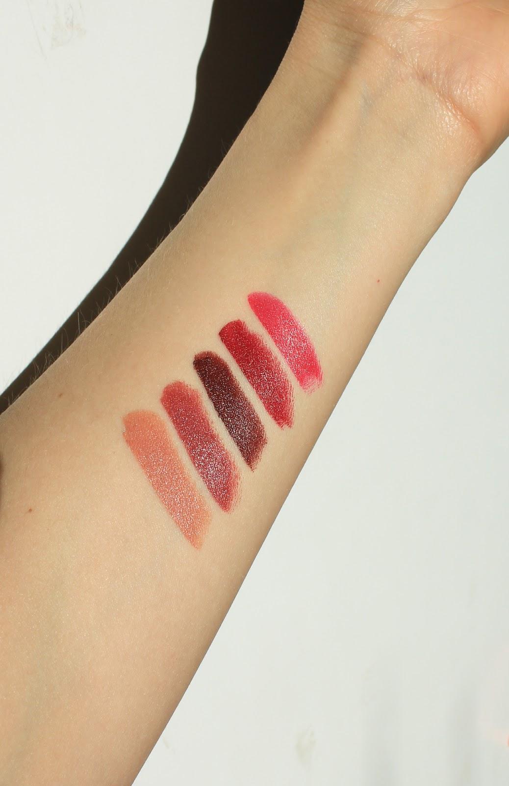 RMS Beauty Wild With Desire Mini Lipstick Set. LoveLula. Carmine free, natural. Jezebel, Unmistakable, Temptation, Masquerade, Nightfall