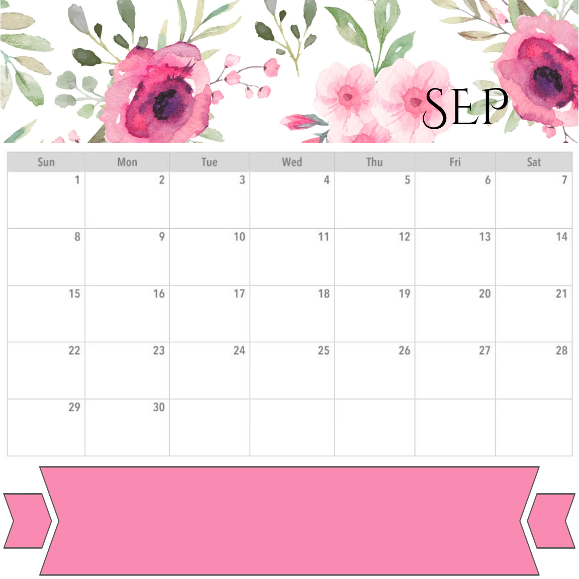 photograph relating to Printable Monthly Calendar September identified as PRINTABLES - PLANNER - SEPTEMBER 2019 CALENDAR Month-to-month