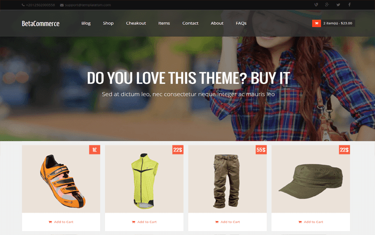 Betacommerce Free Blogger Template