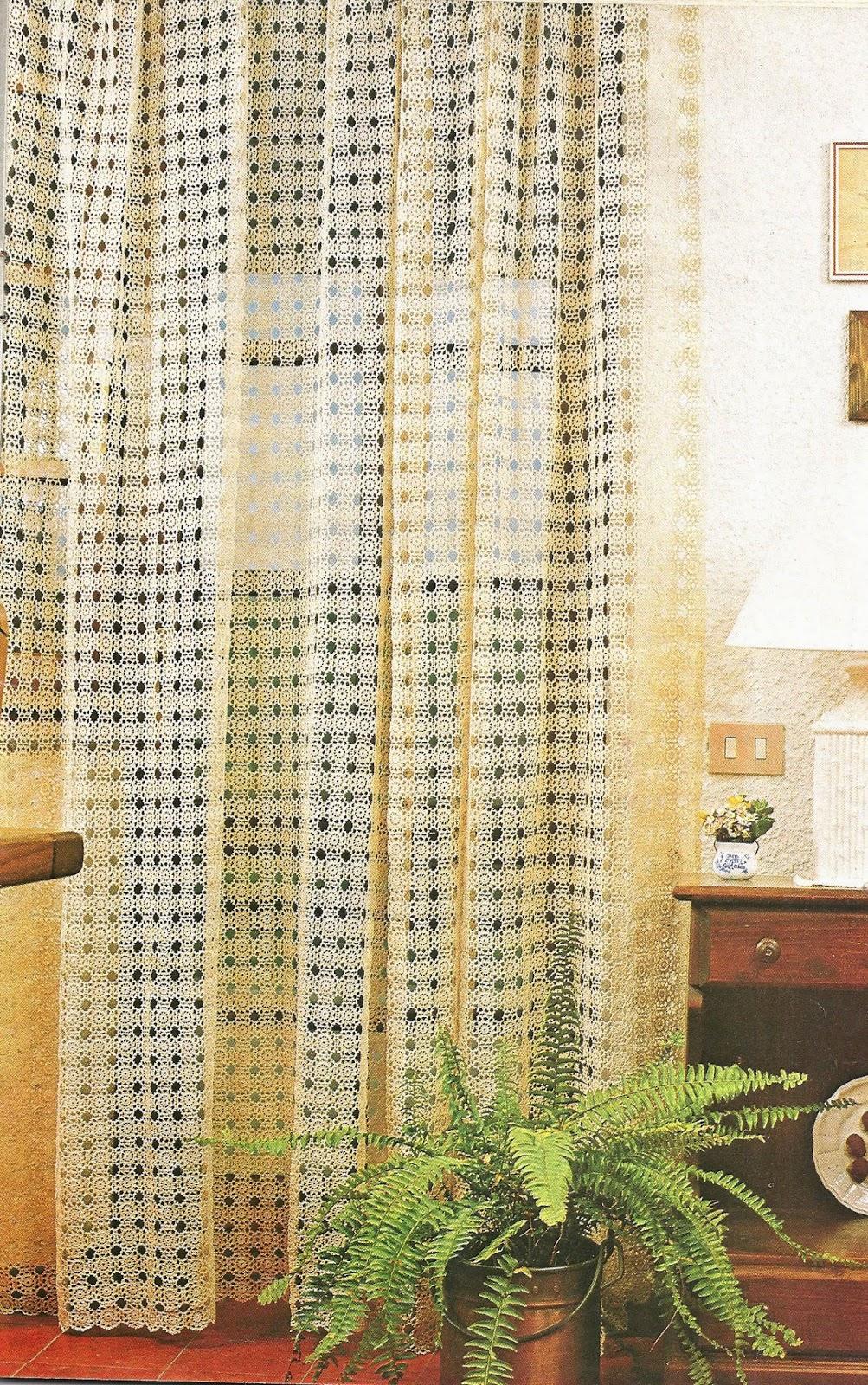 tejidos artesanales en crochet cortina tejida en crochet