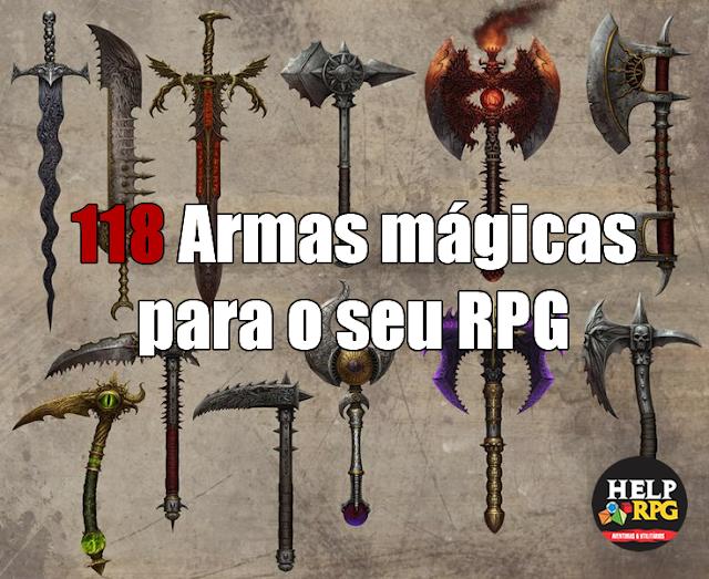 118 Armas mágicas para o seu RPG