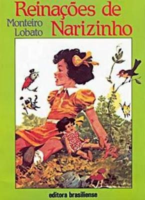 reinações de narizinho - monteiro lobato - editora brasiliense - sítio do picapau amarelo - manoel victor filho - jacob levitinas - década de 1990 - década de 2000 - capa de livro - bookcover