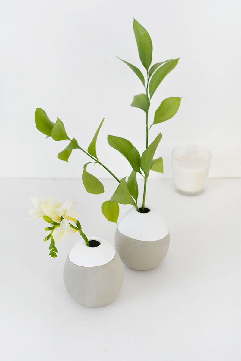 concrete vase DIY