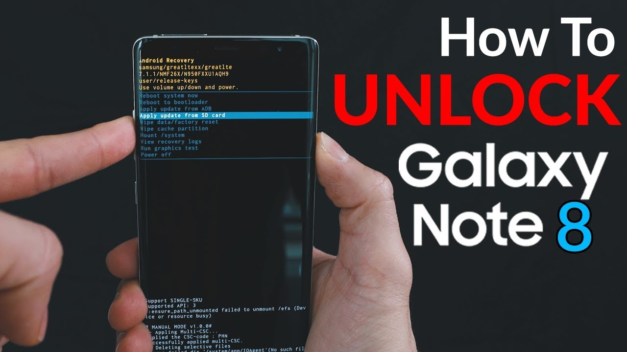 Unlock Samsung Galaxy NOTE 8 T-MOBILE network