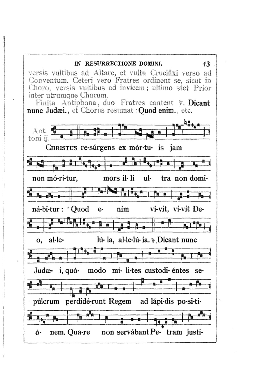 In liturgy and song April 2015