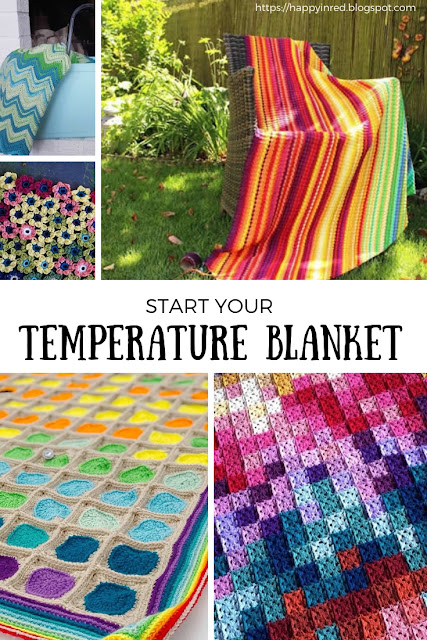 Crochet temperature blanket, how to make a crochet temperature blanket? A complete guide | Happy in Red