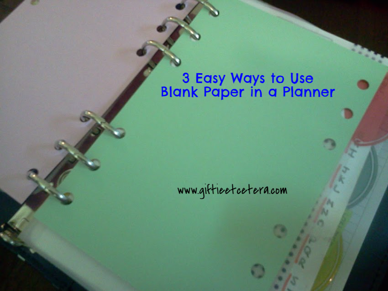 blank Paper, Planner