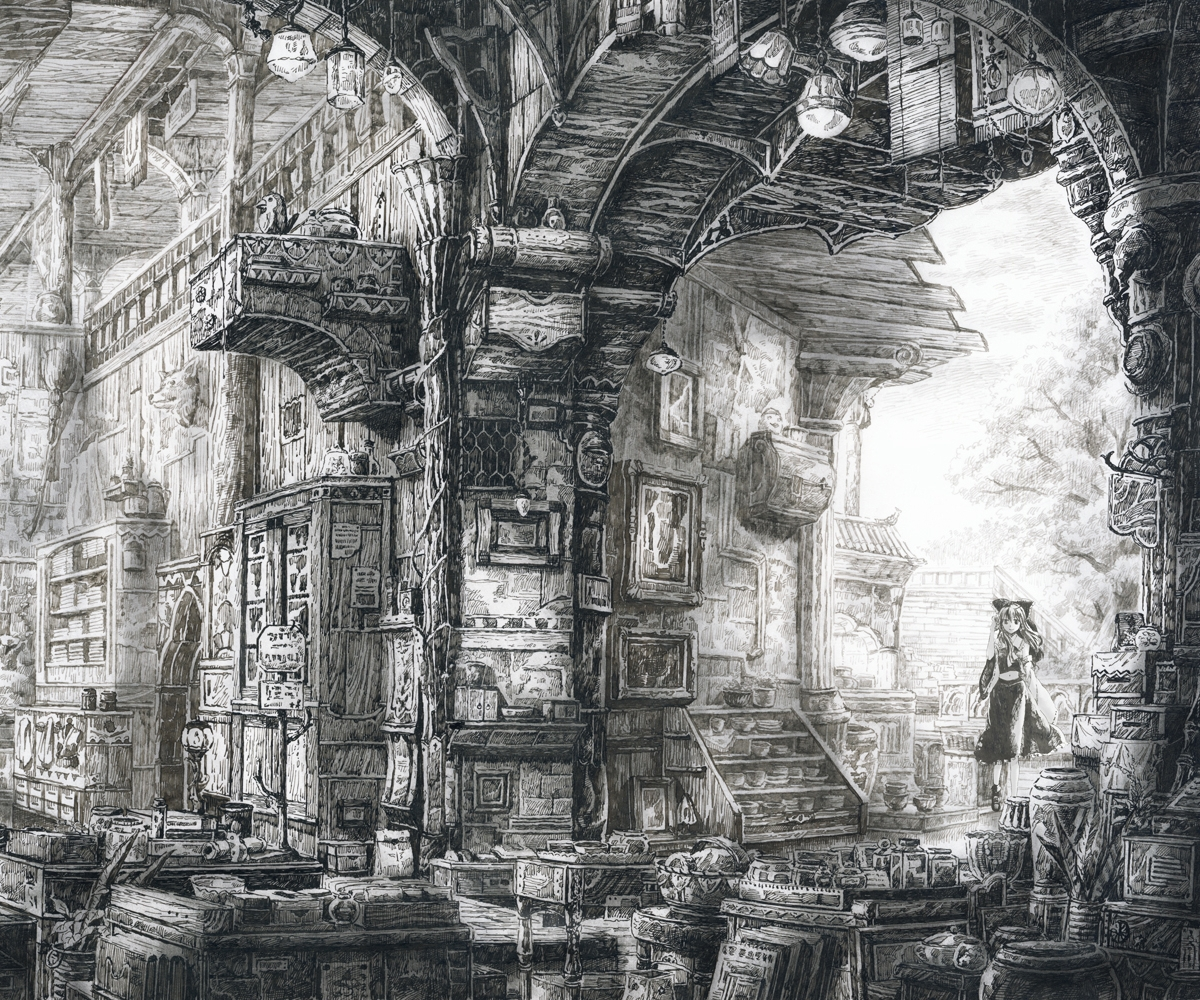 09-Loaded-Interior-Mita-Mitauzo-実-田-く-ら-Intricate-Japanese-Architectural-Drawings-www-designstack-co