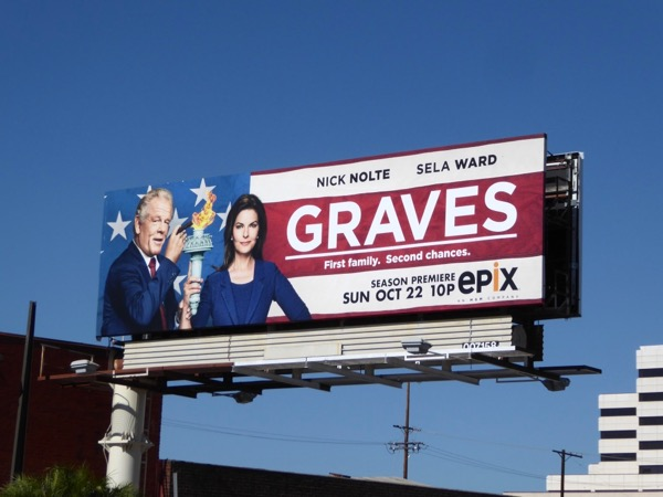 Graves season 2 Epix billboard
