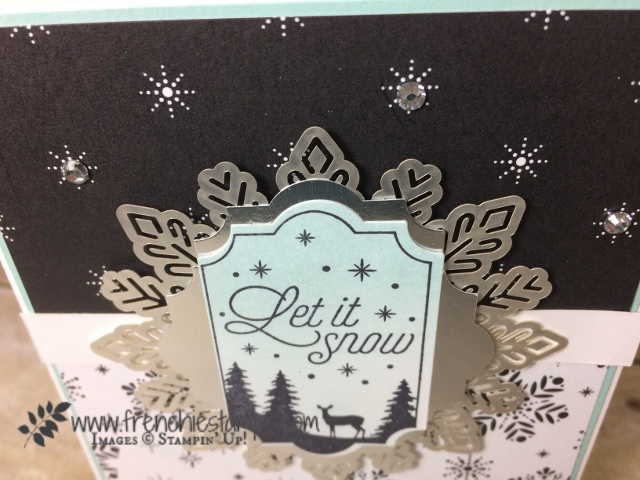 Merry little Christmas designer paper, Everyday Label Punch, Foil Snowflakes, Merry Little Label,