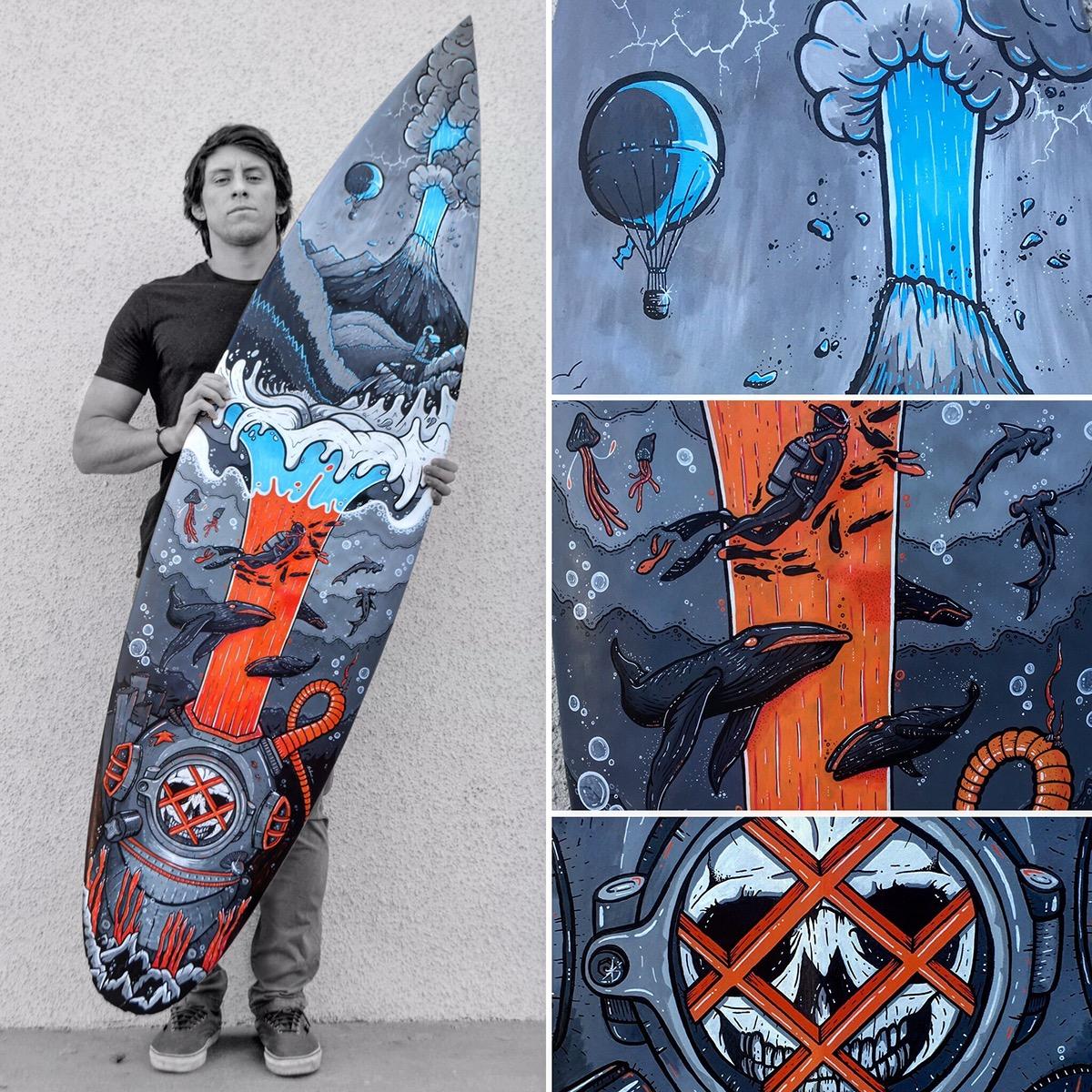 The Solrac, surf art del revés