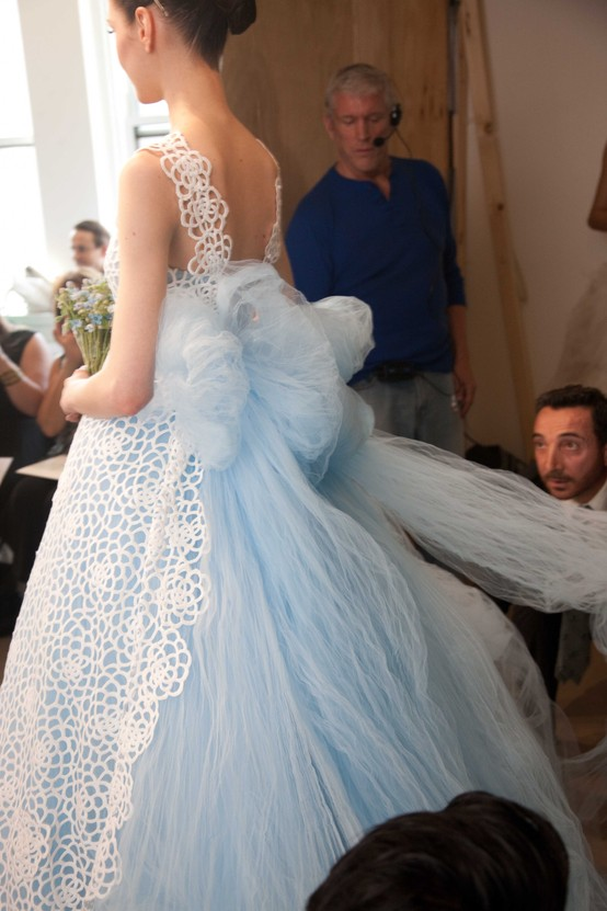 Wedding | Oscar de la Renta spring 2013 details backstage / Bridal ...