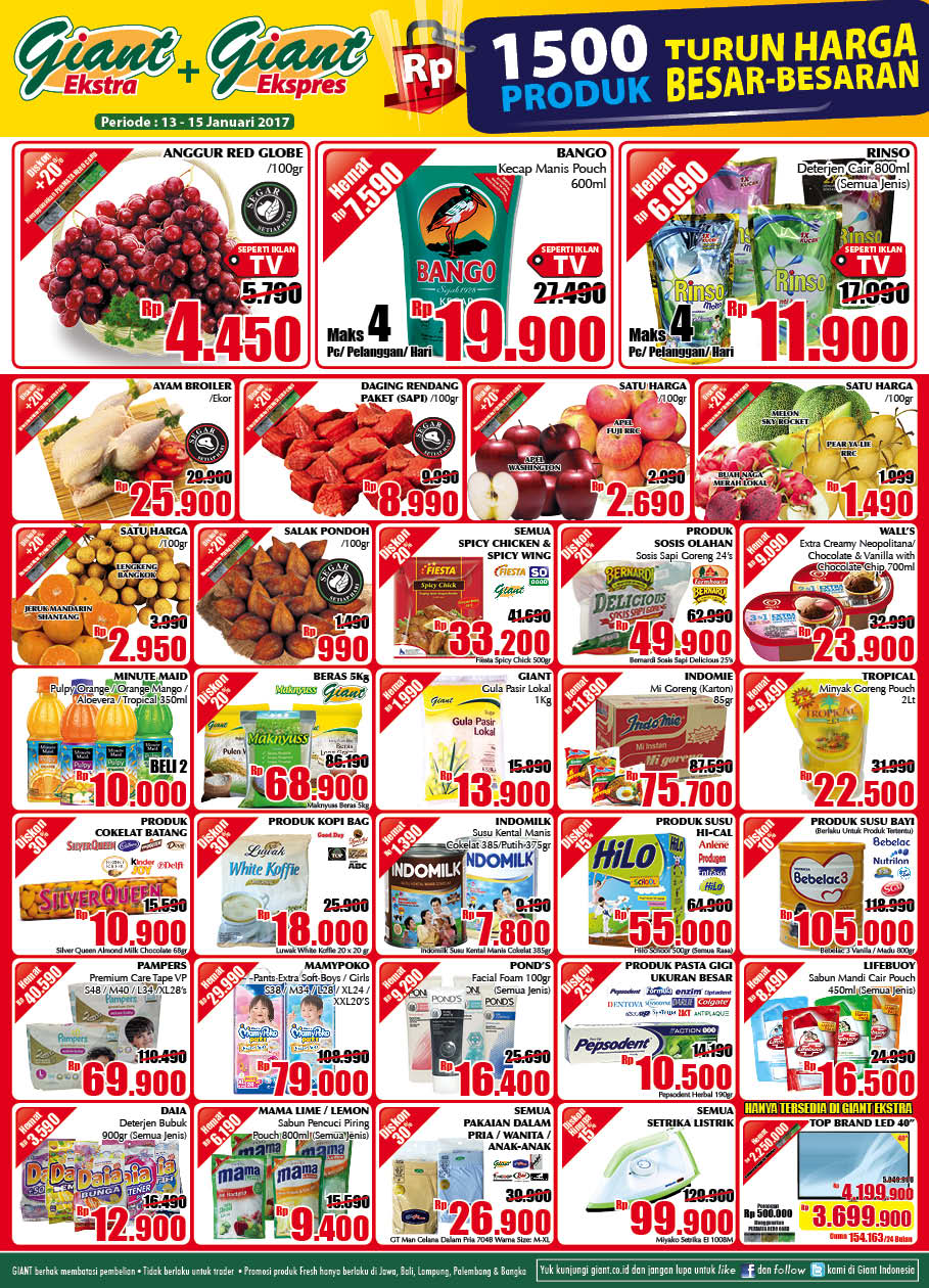 Katalog Promo Koran Giant Jsm13 15 Januari 2017 Jsm Voucher Rp 500 000 Oke Supaya Tidaklah Terlalu Berlama Lama Lagi Segera Saja Kita Simak Product Apa Sajakah Yang Masuk Dalam Daftar Harga Minggu Ini