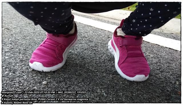 Gambar kasut PUMA Carson 2 V Inf untuk kanak-kanak berusia 3 tahun.