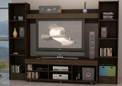 Muebles de melamina y madera plano de mueble para tv for Muebles para televisor y equipo de sonido