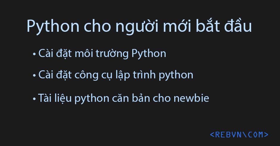 Python cho người mới bắt đầu : cài đặt và tài liệu
