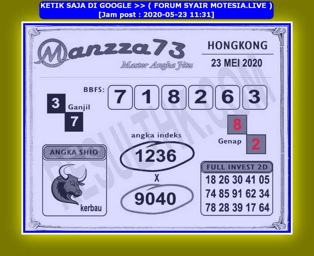 Kode syair Hongkong Sabtu 23 Mei 2020 214