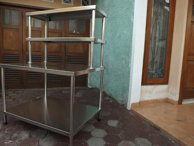 Jual Meja Dapur Resto Bahan Stainless Steel