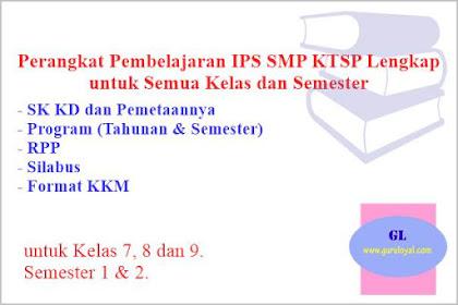 Perangkat Pembelajaran IPS SMP KTSP, Lengkap untuk Semua Kelas dan Semester