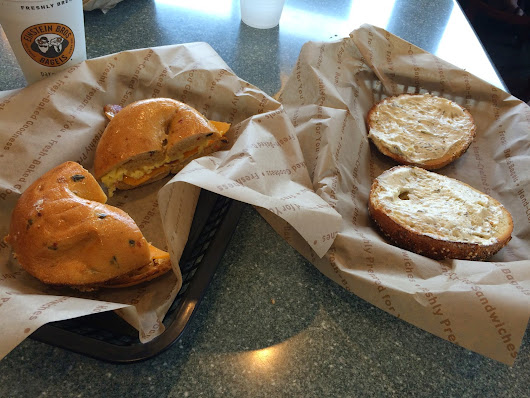 The Foodie : Breakfast at Einstein Bros Bagels