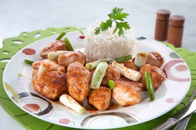 دجاج بالبصل الأخضر - مطبخ منال العالم