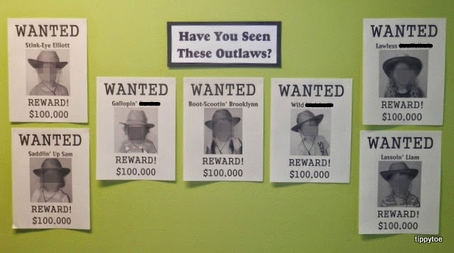 Tippytoe crafts wild west wanted posters - Wild west funny ...