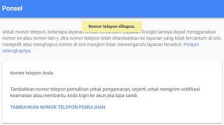 Cara Mengganti Nomor Verifikasi Gmail