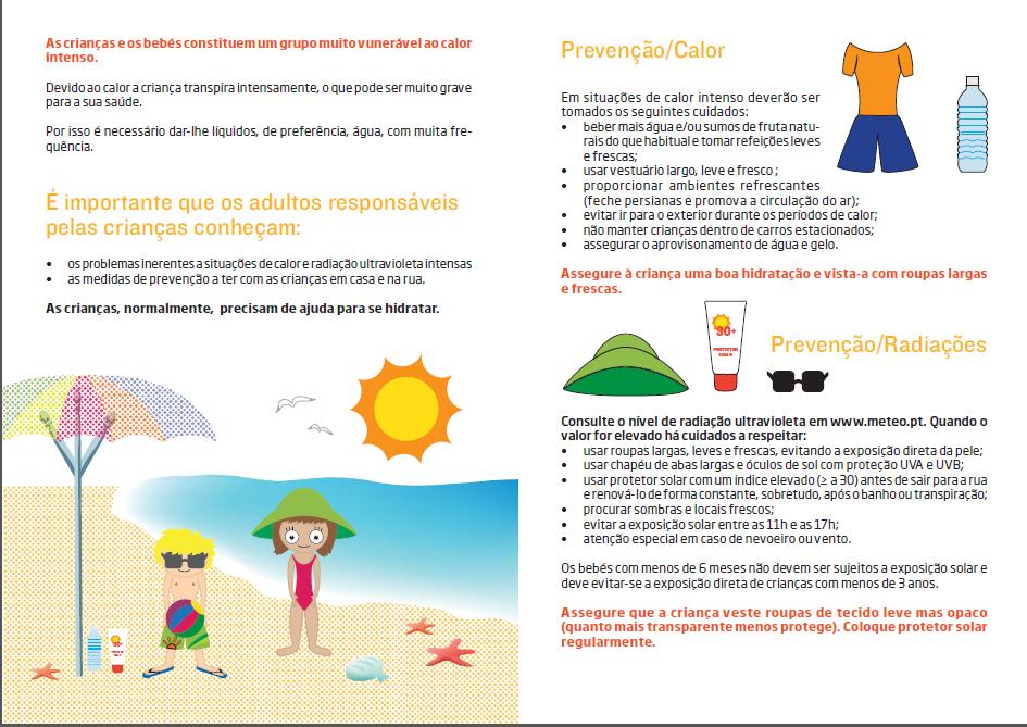 a nossa Geografia  Cuidados a ter com as crianças - Calor e Radiação ... daaff770ec