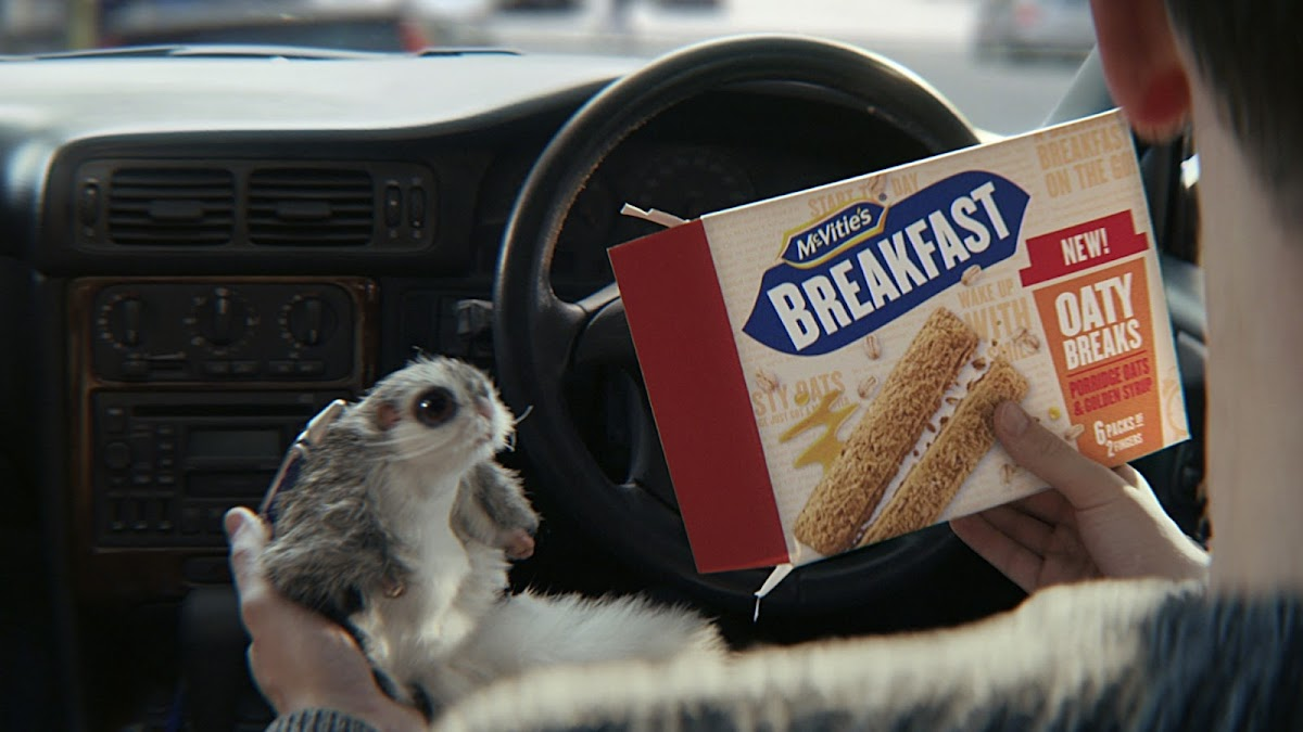 Flying squirrel helps to launch McVitie's latest ad in its iconic Sweeet marketing campaign