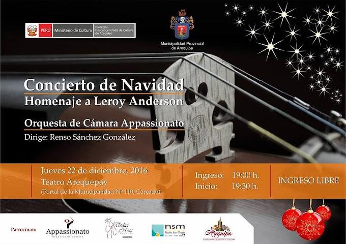 Concierto de Navidad. orquesta de cámara Appassionato - 22 de diciembre