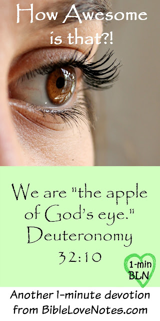We are the Apple of God's Eye, Deuteronomy 32:10