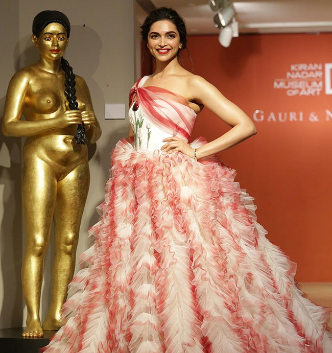 Deepika Padukone In Red Dress At Gauri and Nainika Fashion Show