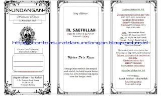 Contoh Desain Undangan Walimatul Khitan Word Docx Contoh Surat