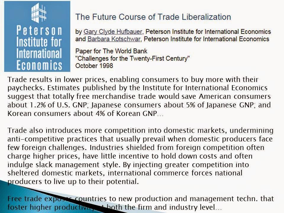 Economic free trade and trade liberalization