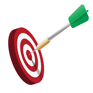 Red and White Target, with Arrow Hitting the Bull's Eye