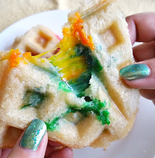 Rainbow Grilled Cheese sandwich for St. Patrick's Day