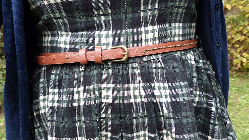 robe motif tartan vintage