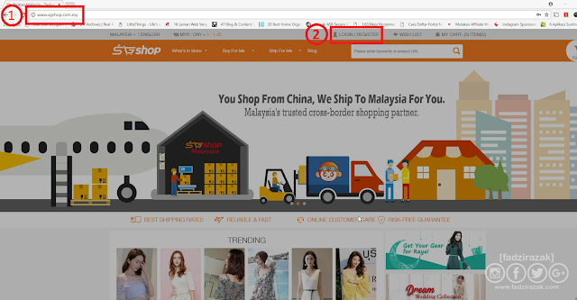 Register website SGShop