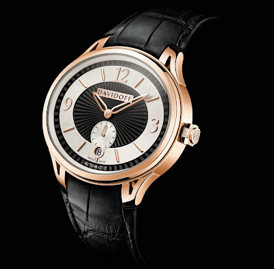 Very Zino Gent Automatic Red Gold, Ref. No.20179: Bicolour dial, black alligator strap, butterfly buckle
