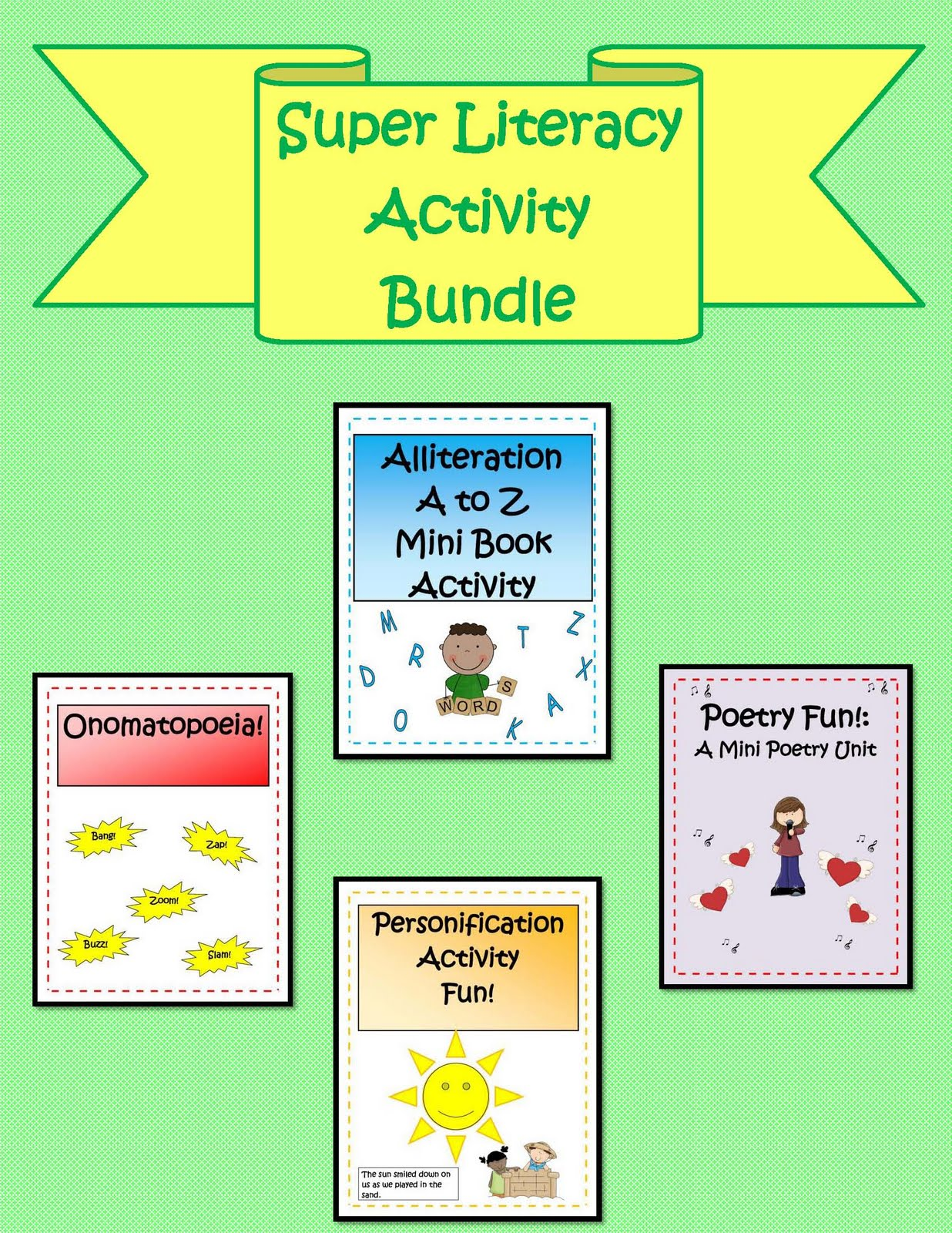 Engaging Lessons And Activities Super Literacy Bundle Of