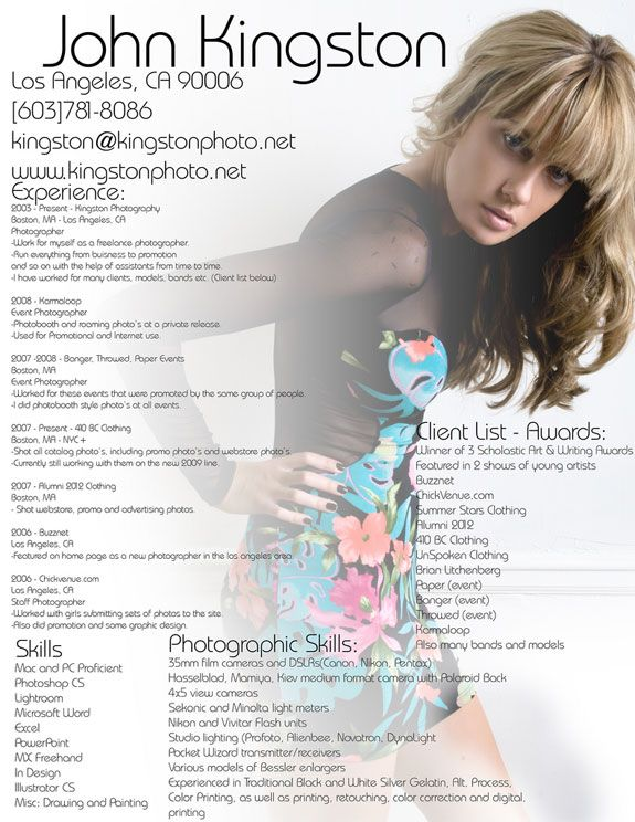 ... Photographer Resume Samples That You Need Entire Of Section. So, What  Are You Waiting For? You Can Check Out Of The References Of The Resume.
