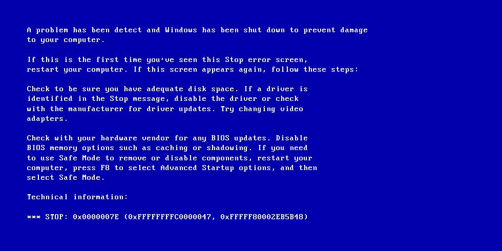 Bluescreen Windows 7