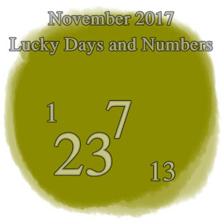 November 2017 Lucky Days and Numbers for each sign numerology horoscope