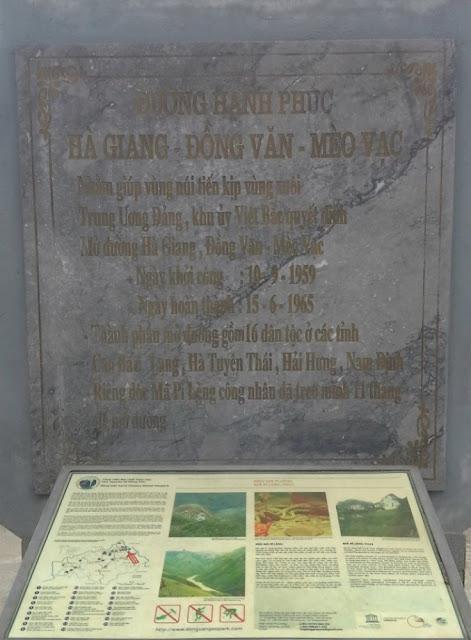 Bia đá kỷ niệm - Đường Hạnh Phúc