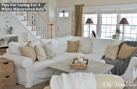 How Much Fabric Do I Need To Recover A Sofa Clack Bed Ireland City Farmhouse: Real Life With White Slipcover & Keeping ...